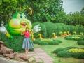 Гусеничка из зелени