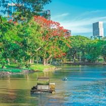 Озеро в Люмпини Парке в Бангкоке