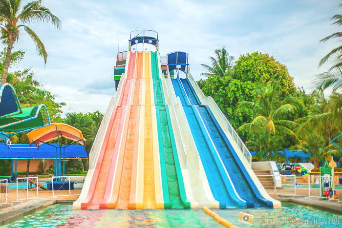 Speed Slide в Сиам Парк Сити в Бангкоке