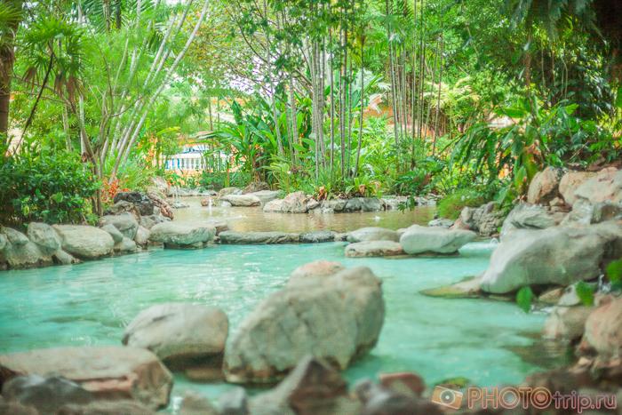 Красивый пруд в Сиам Парк Сити в Бангкоке