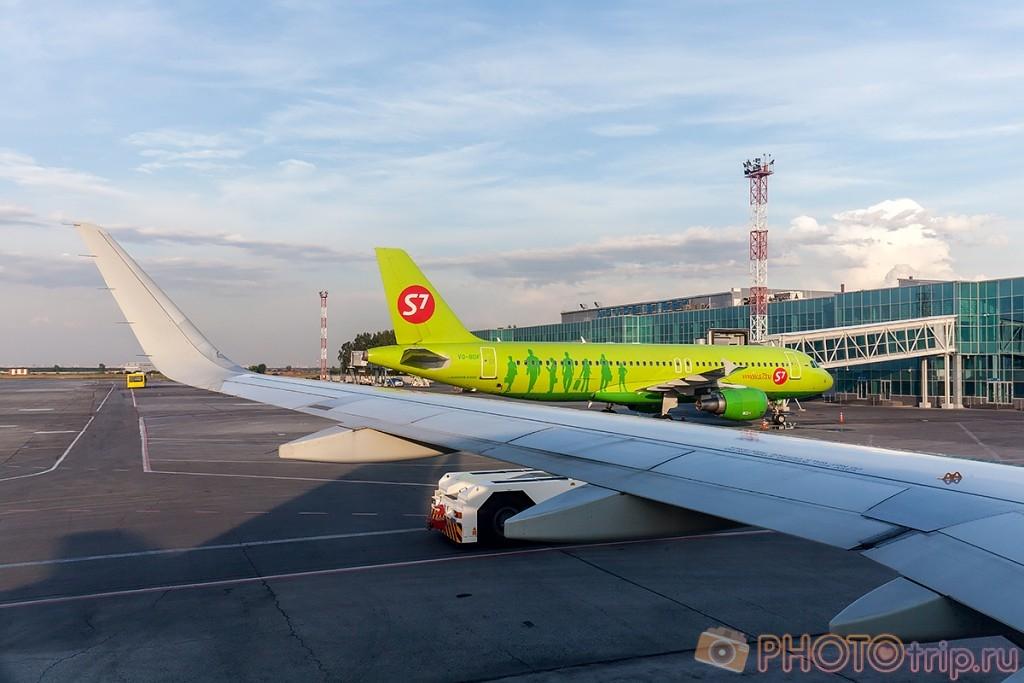 В ожидании вылета из Новосибирска